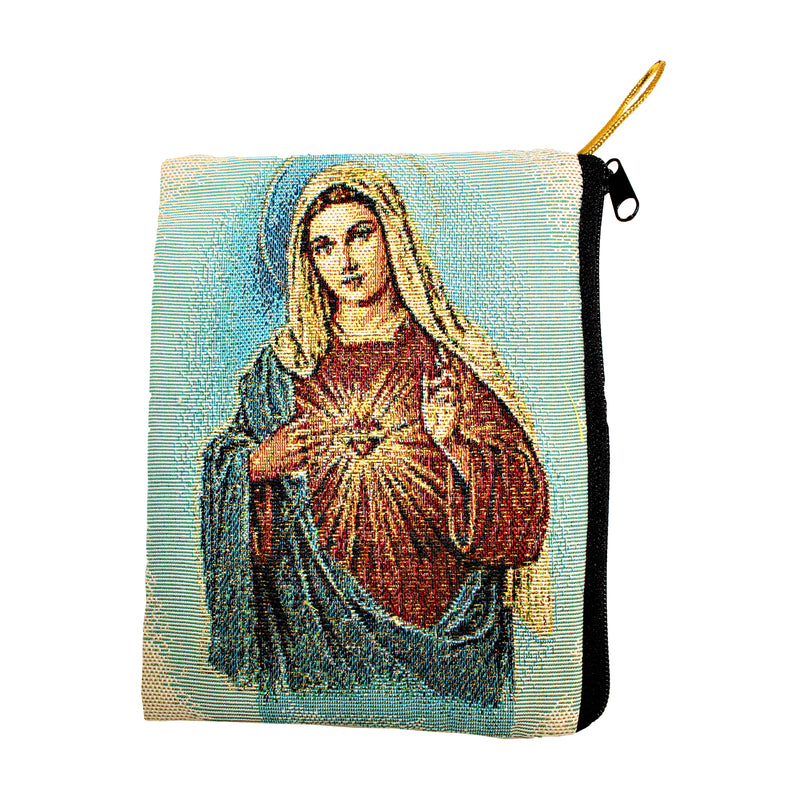 Sacred Heart of Mary Small Rosary/Coin Purse