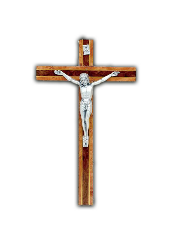 12in. Burl Wood Crucifix