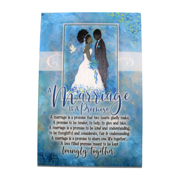 """Marriage Is A Promise,"" Plaque by Woodland Grace"