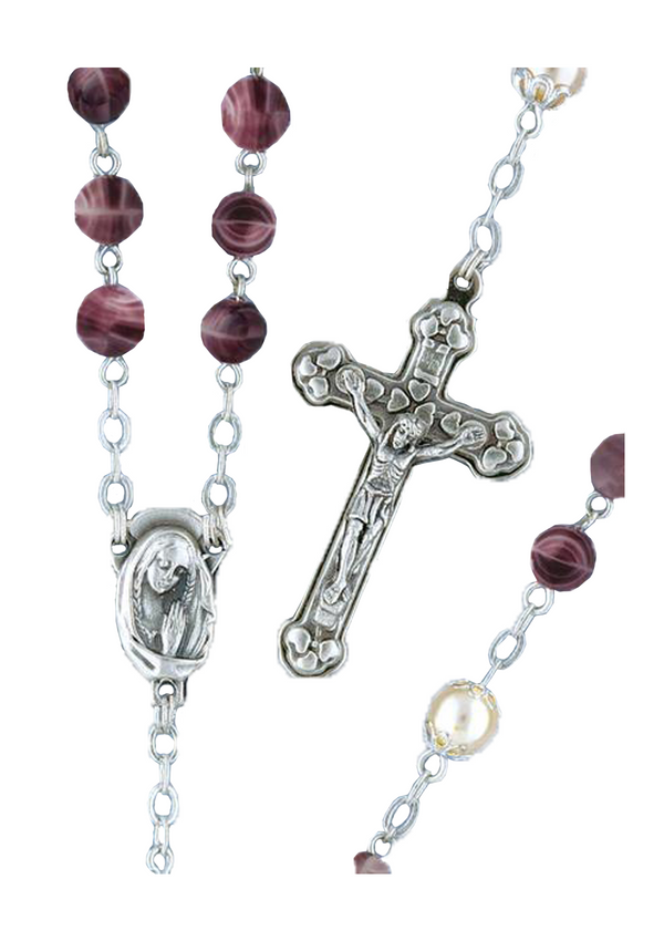 Gemstone-look Rosary - 5492