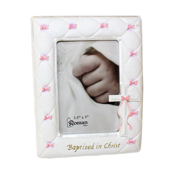 Baptized In Christ Blue or Pink Ribbon Frame-42988/42989
