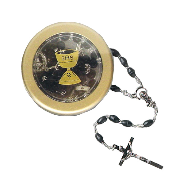 Black Rosary & Box - 7654/BK