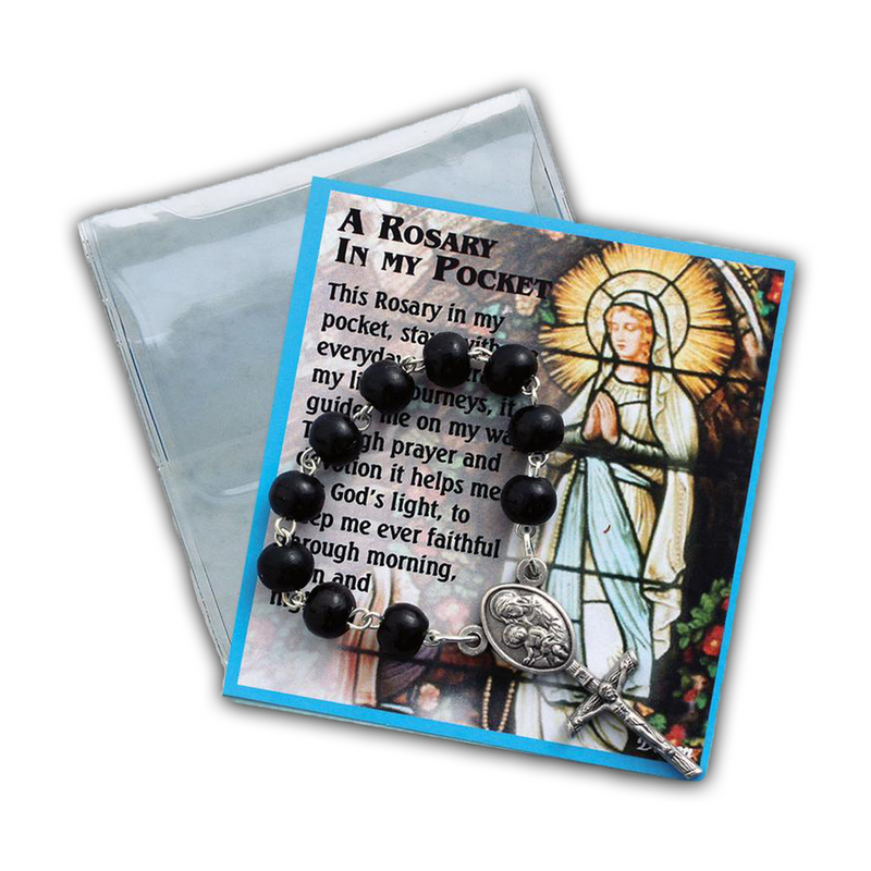Black Rosary Chaplet Prayer Folder-83/CHP/BK