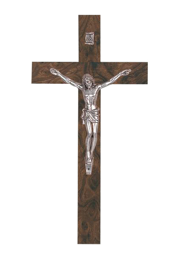 6.5in. Burl-Finished Crucifix-17/117