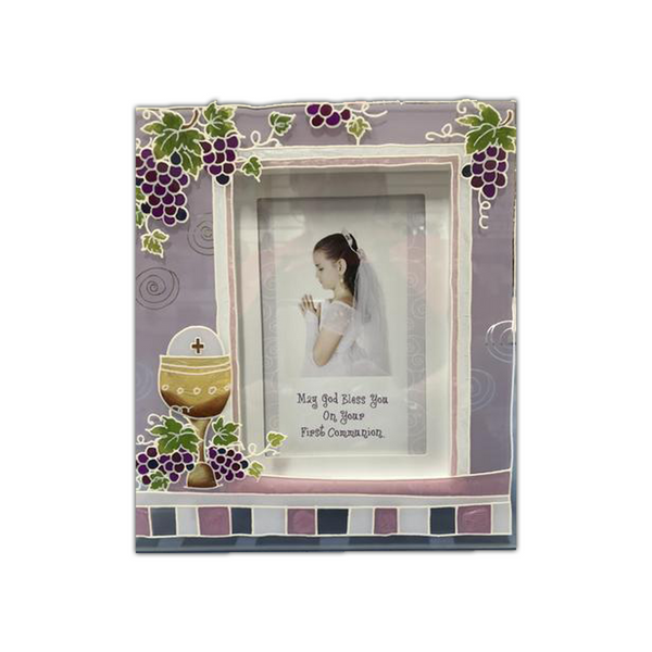 First Communion Glass Frame 3D