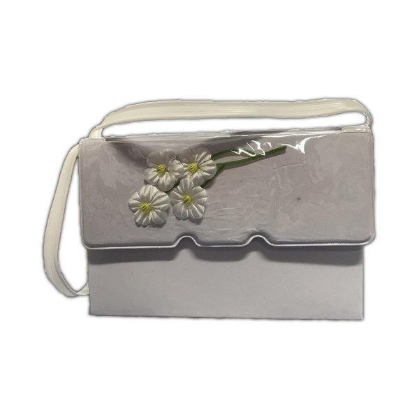First Communion Vinyl Floral Purse