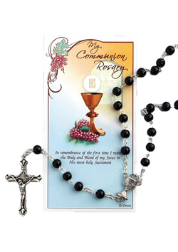 Communion Rosary Black