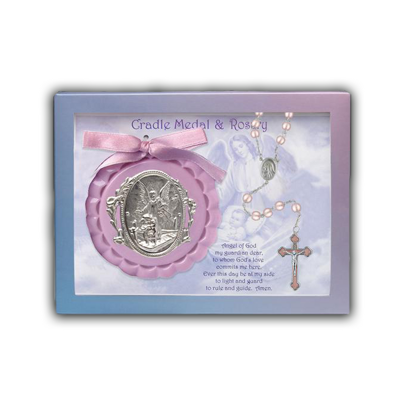 Crib Medal And Pearl Rosary - 100/232