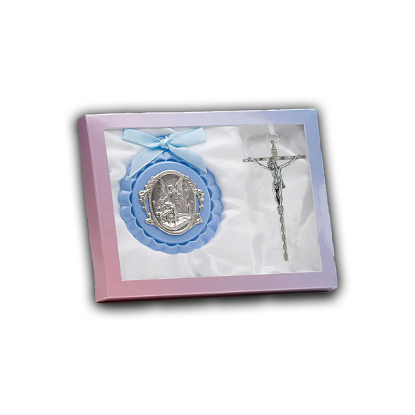 Crib Medal And Crucifix - GB100/590