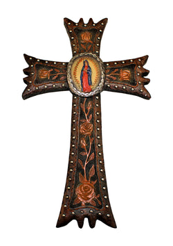 Guadalupe 22 Inches or 15 Inch Hanging Cross
