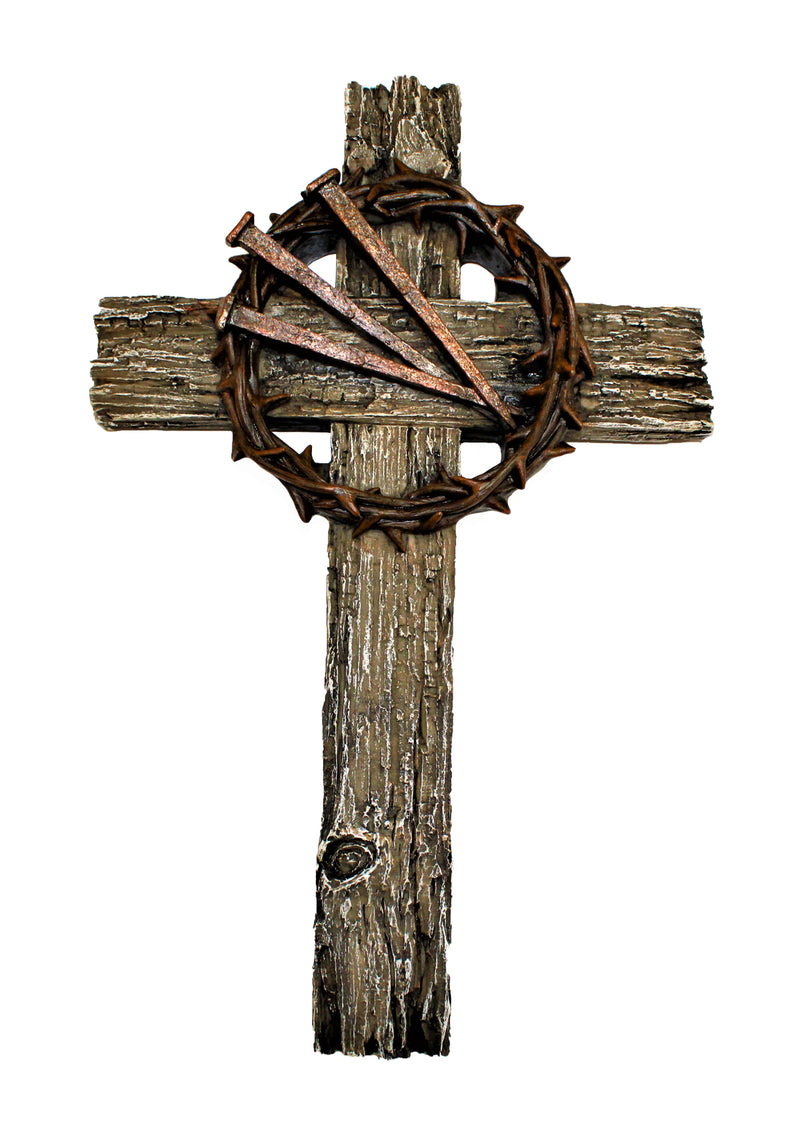 Three Nails And Crown Of Thorns Cross