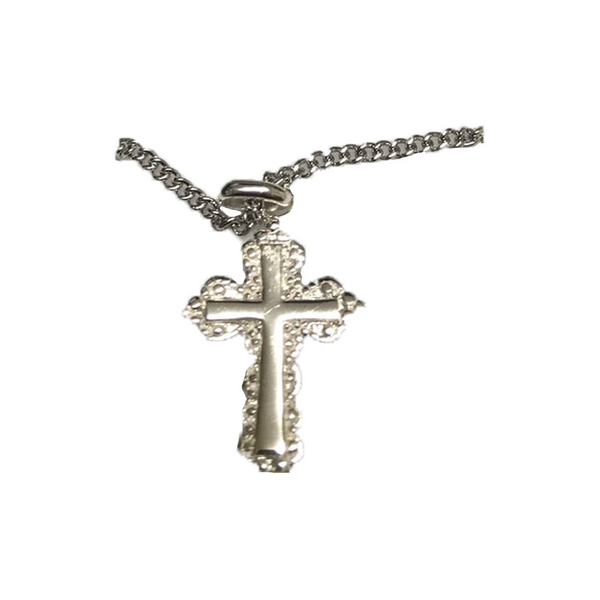 Sterling Silver Cross With Necklace