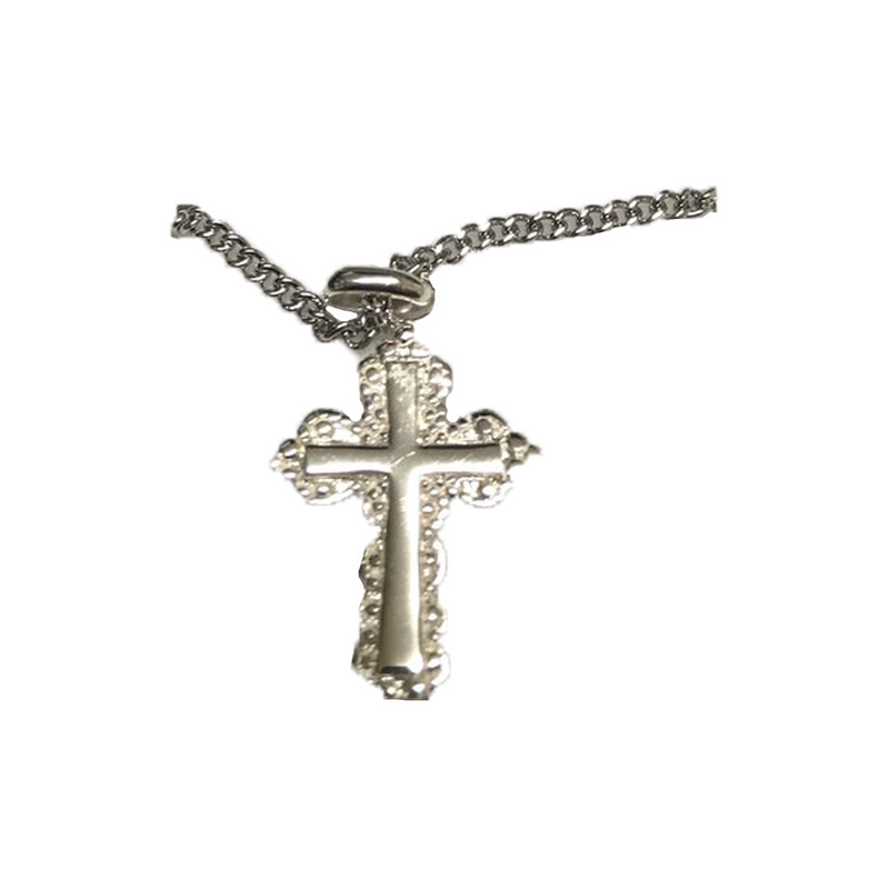 Sterling Silver Cross With Necklace-S2210