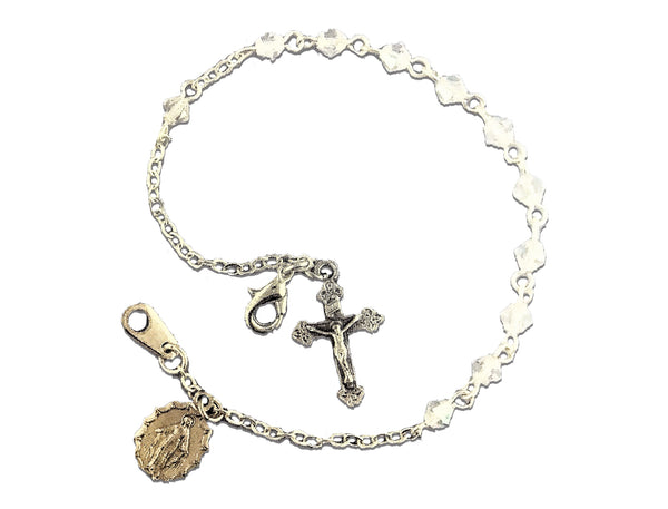 Crystal Sterling Silver Cross and Medal-08450