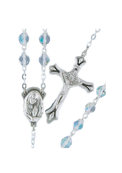 Firepolished Bead Rosary - 2245