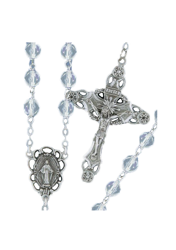 Firepolished Bead Rosary - 2255