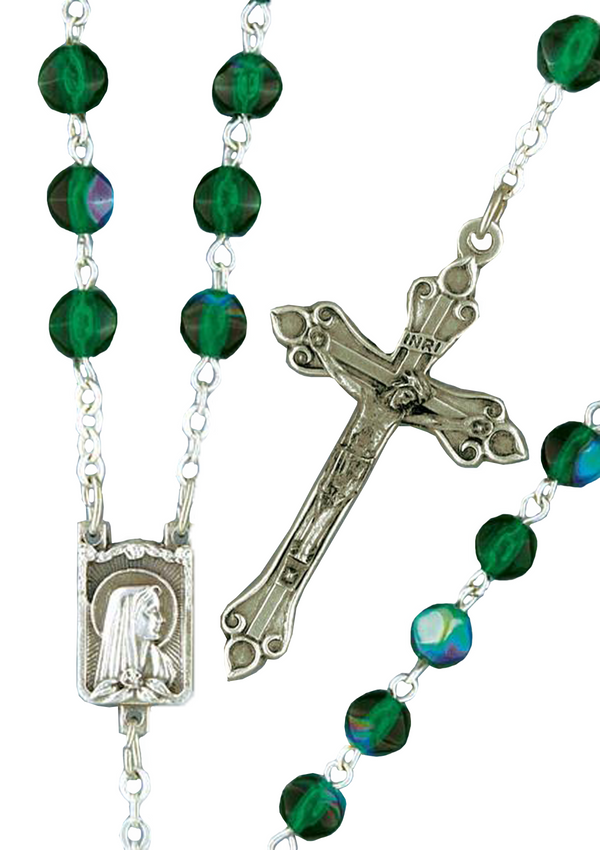 Faceted Glass Rosary - 309