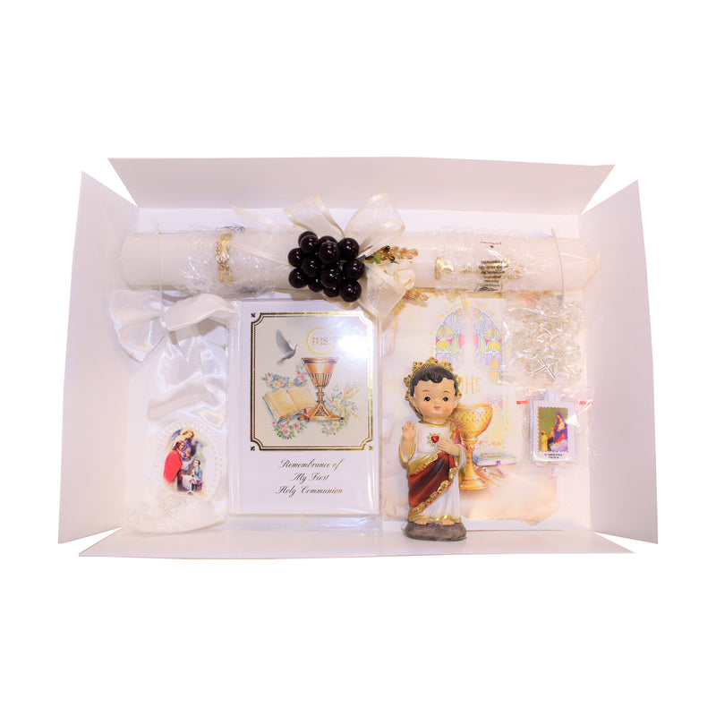 First Communion Set With Jesus Statue