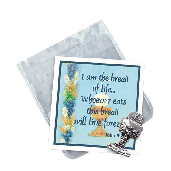 Communion Chalice Prayer Folder