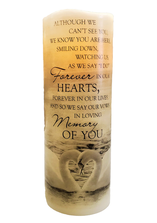 Carson Flameless Candle In Loving Memory