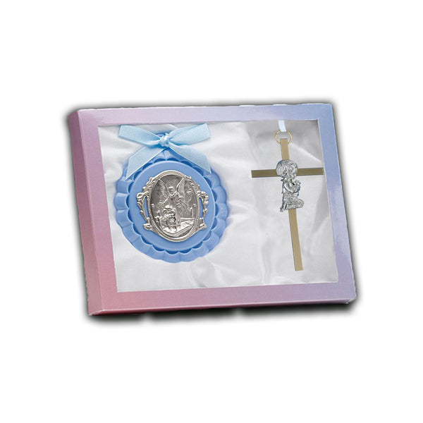 Crib Medal And Brass Cross - GB100/7627