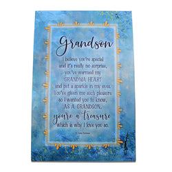 """Grandson"" Plaque by Woodland Grace"