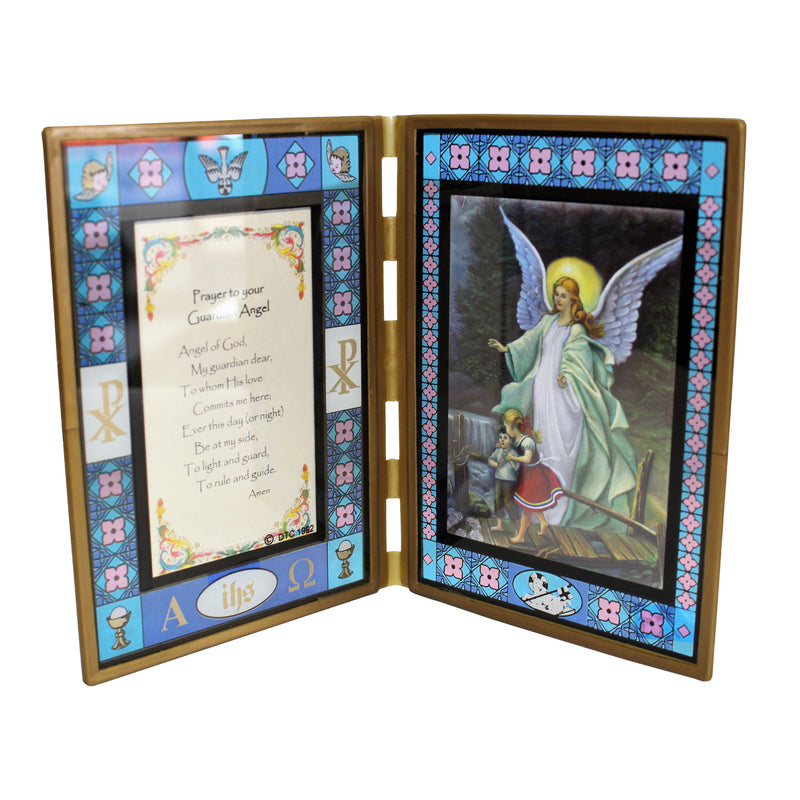 Stained Glass Guardian Angel  Frame-X40/BAP