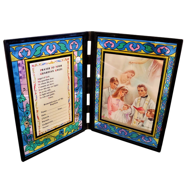 """Prayer To My Guardian Angel,"" Stained Glass Frame"