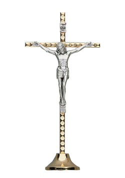 5in. Hammered Metal Crucifix-17/078