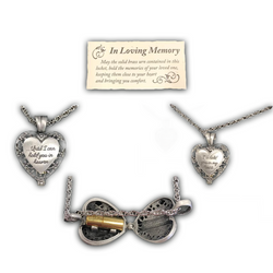 """I'll Hold You In My Heart"", Urn Heart Locket"