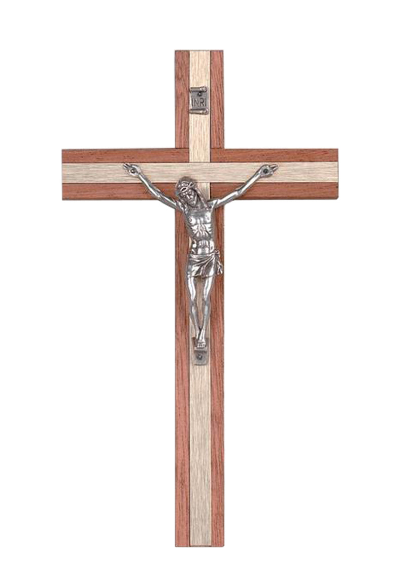 8in. Gold Metal Inlay Crucifix-17/780
