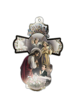 First Communion Wood Cross -12""