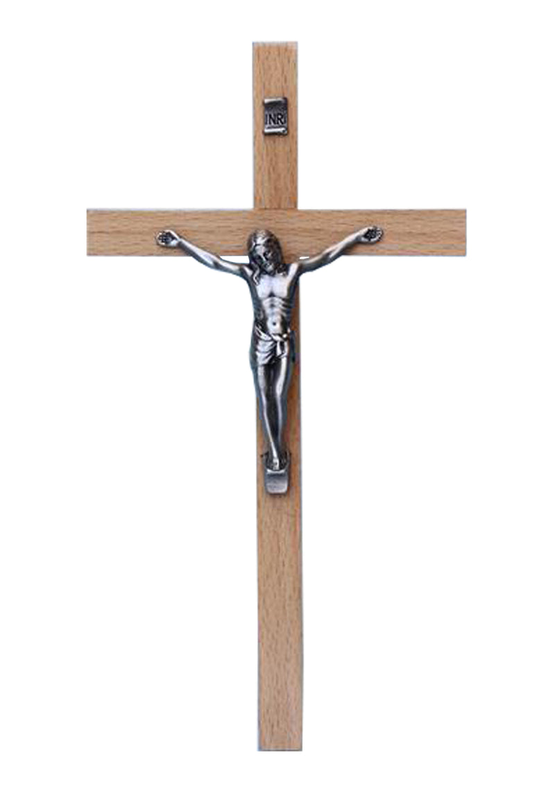 8in. Wood Crucifix with Metal Corpus- 17242