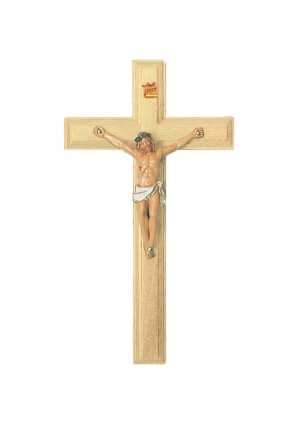 9in. Maple Crucifix with Pellegrini corpus