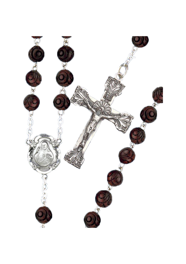Round Coco Bead Rosary-671/S/BN