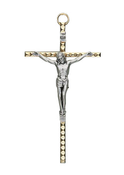 4.5in. Hammered Metal Crucifix-17/076/S