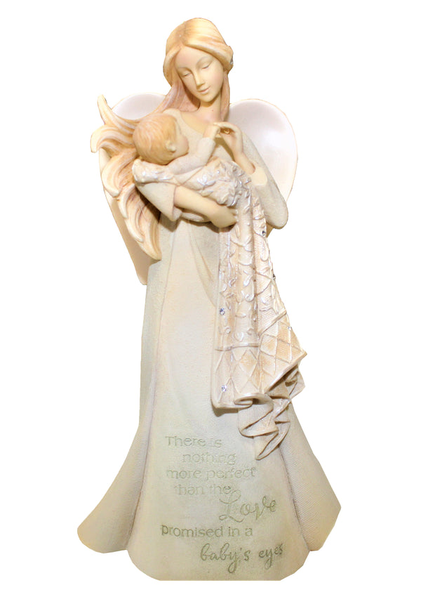 Foundations Love In Baby's Eyes Angel Figurine
