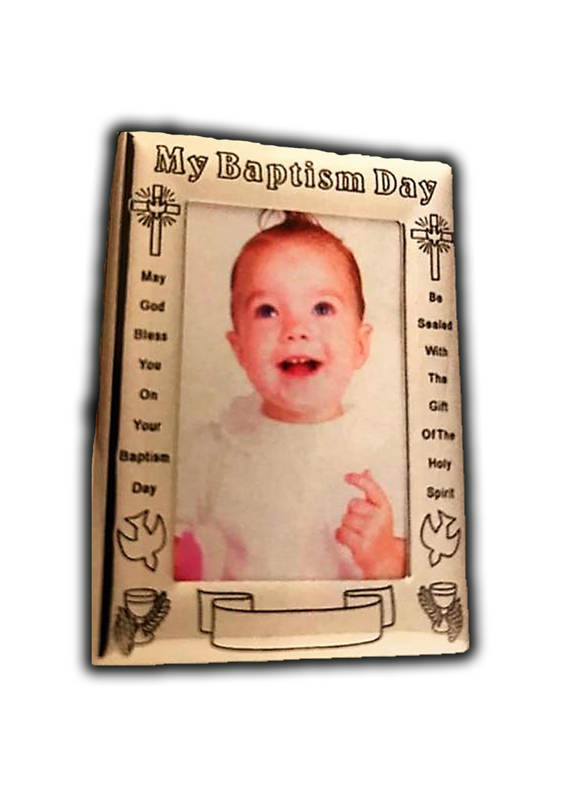 """My Baptism Day"" Silver Frame"
