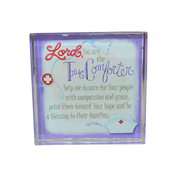 """Lord You Are The True Comforter,"" Nurse's Plaque"