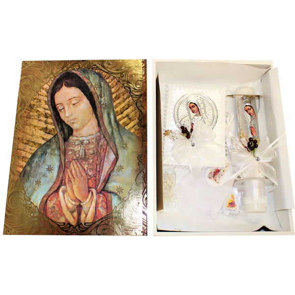 First Communion Gift Set-Our Lady of Guadalupe With Spanish Prayer Book