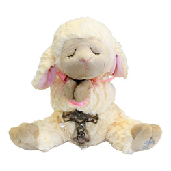 Praying Sheep With Silver Cross For Girl Or Boy-HE10233/HE10234