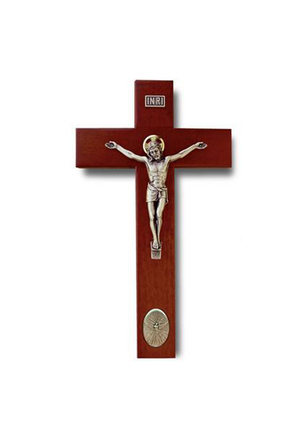 9in. Rosewood Holy Spirit Crucifix