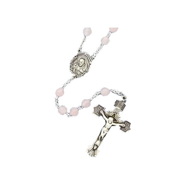 Rose Quartz Rosary - ROS/6
