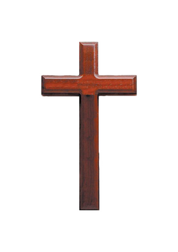 11in. Rosewood Cross with Beveled Edges