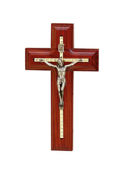 5.5in. Rosewood Crucifix-17376