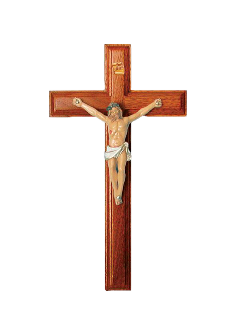 9in. Rosewood Crucifix with Pellegrini corpus