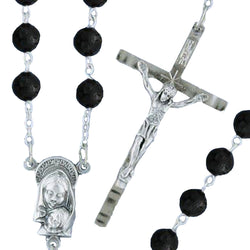 Round Crystal Rosary - 206/S/JT