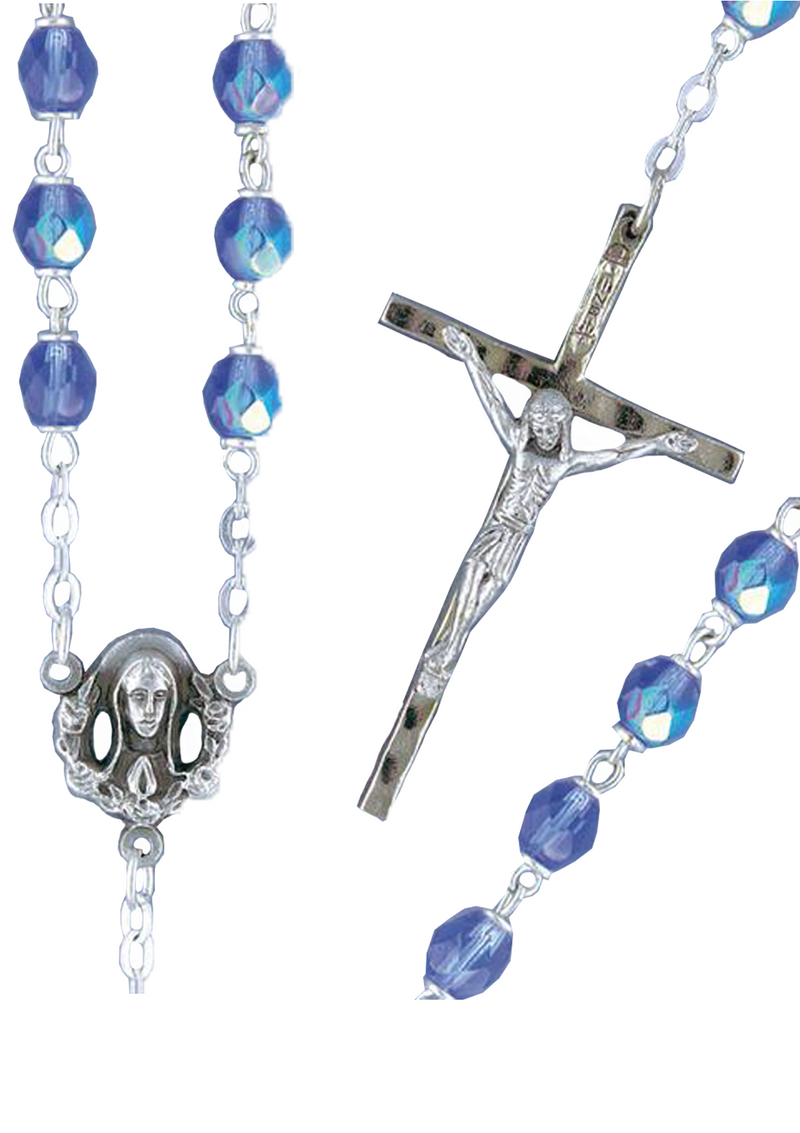 Firepolished Bead Rosary - 2202