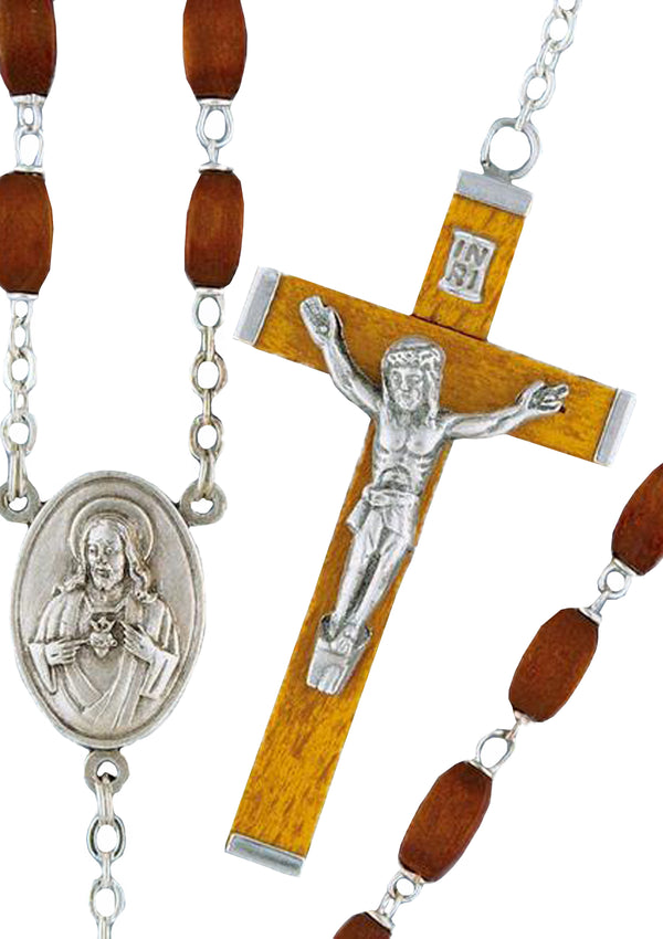 Square Wood Rosary - 5687