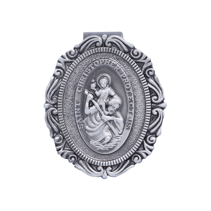 St. Christopher Oval Visor Clip-20515